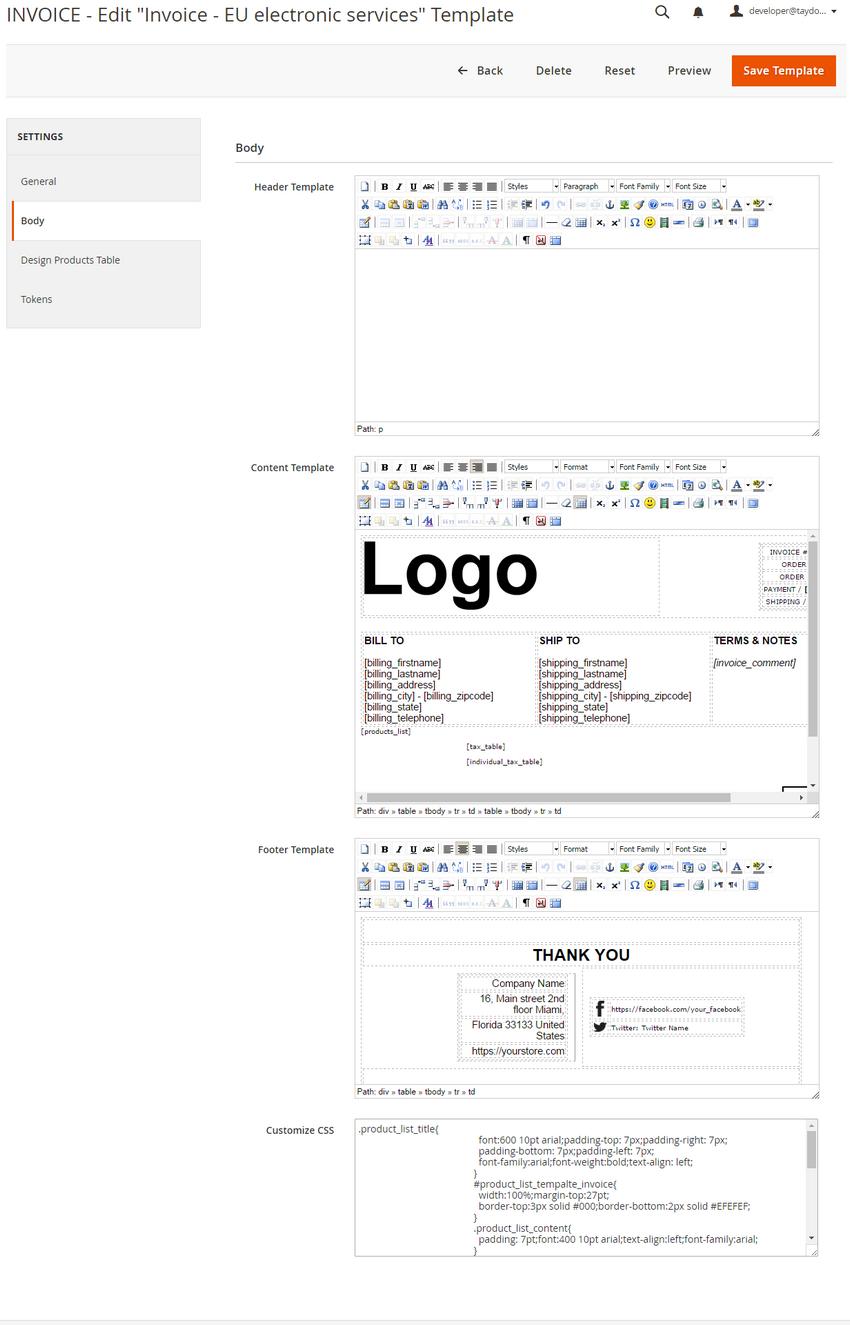 magento pdf invoice packing slip credit memo template builder extension. Black Bedroom Furniture Sets. Home Design Ideas