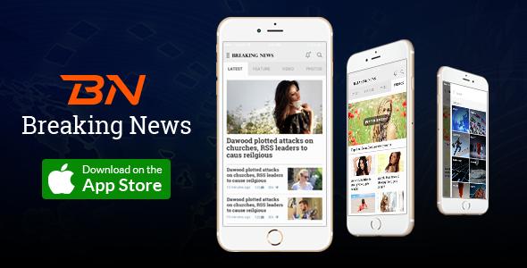 The mobile app design for mobile News, Magazine application ...