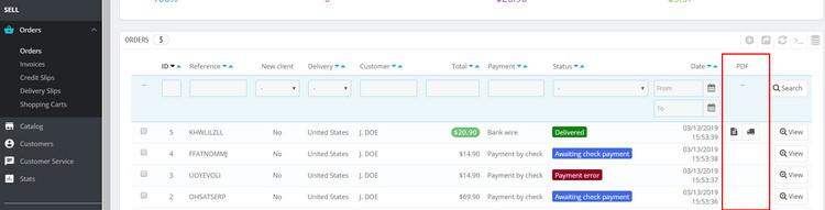 Prestashop help] How to generate, modify Invoice, Delivery, Credit