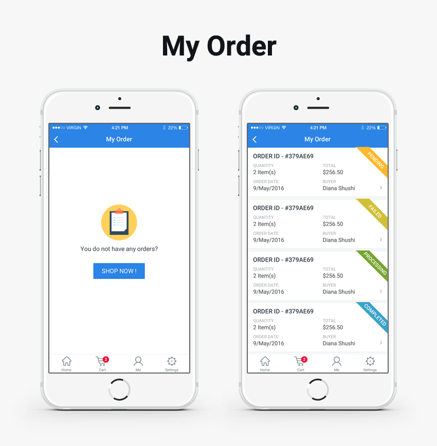Complete-woocommerce-mobile-application-ionic-3-cell-store - Ionic