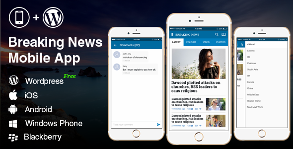 Full Android, iOS Mobile Application Breaking News 2