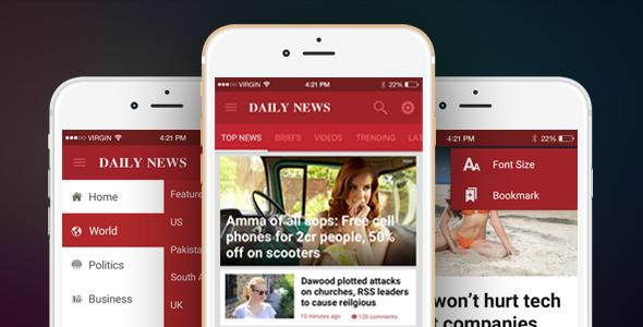Ionic Theme Ionic Template For Mobile News Blog Magazine