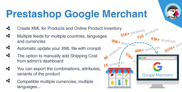 prestashop google merchant feed google shopping feed module