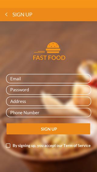 The mobile app design for Restaurant, Order Food, Food application – Fast Food