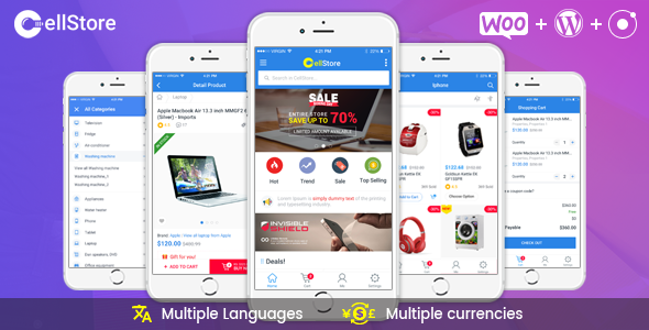 shopera - woocommerce android app source code nulled